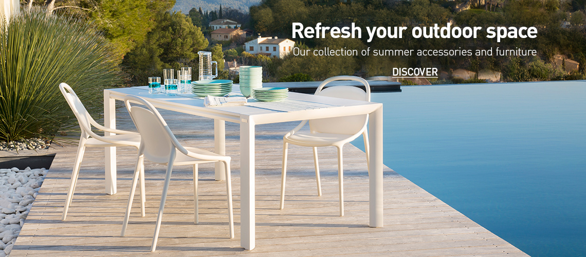 Refresh your outdoor space Our collection of summer accessories and furniture