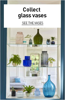 Collect glass vases