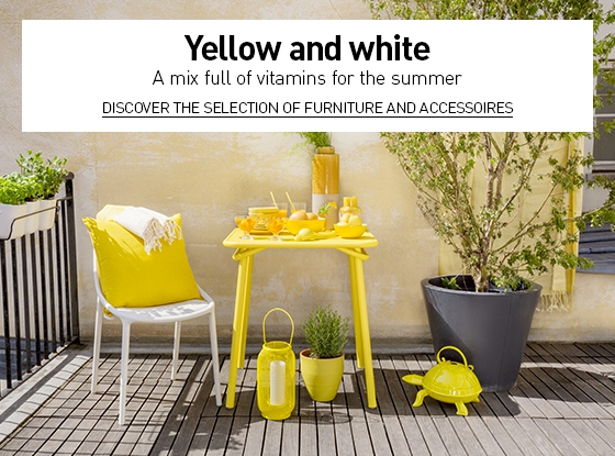 Yellow and white : a mix full of vitamins for the summer