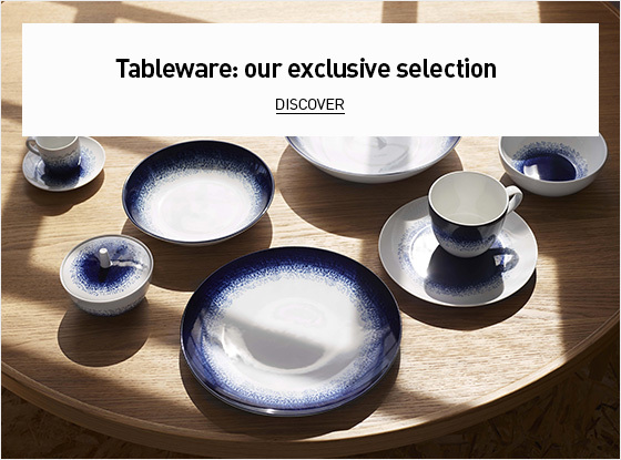 Tableware: our exclusive selection