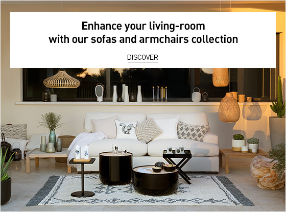 enhance your living room with our sofas and armchairs collection for summer