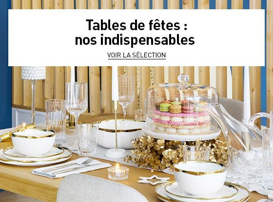 Tables de fêtes : nos indispensables