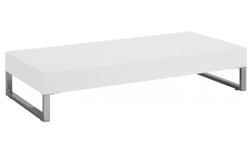 Table basse en MDF - blanc brillant