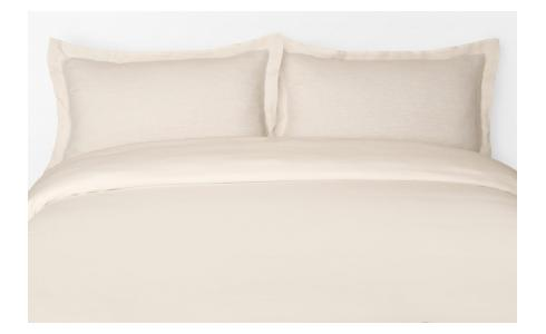 Duvet cover made of flax 200x200cm, natural