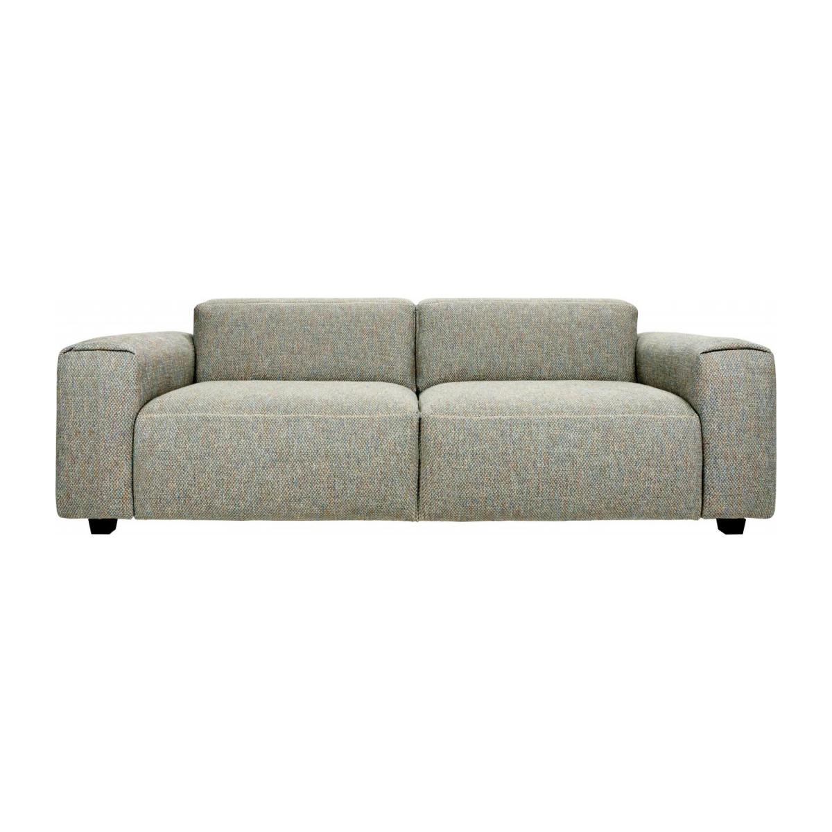 3 seater sofa in Bellagio fabric, organic green n°3