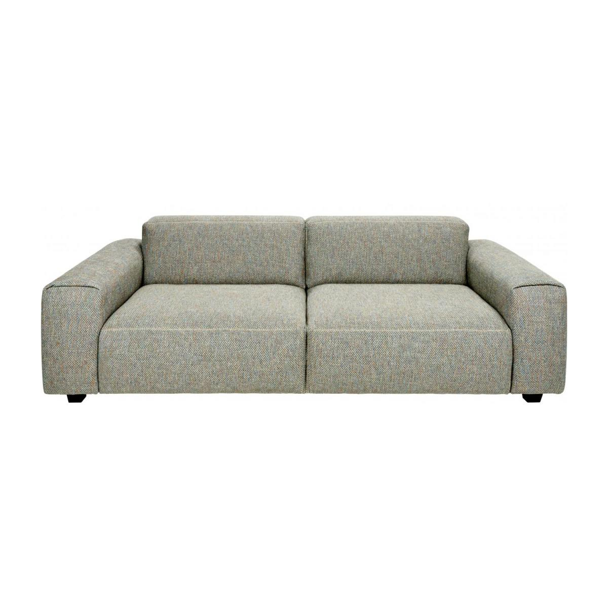 3 seater sofa in Bellagio fabric, organic green n°2