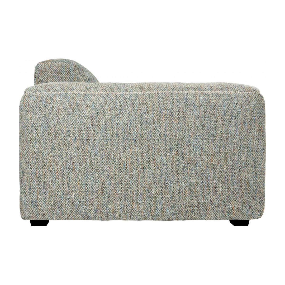 3 seater sofa in Bellagio fabric, organic green n°6