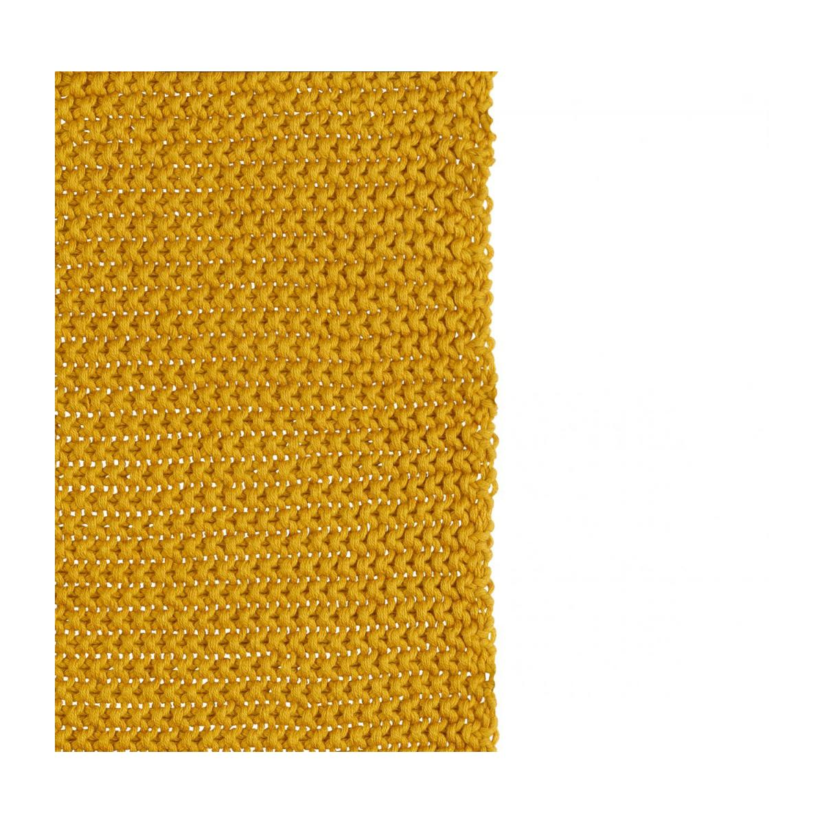 Cotton Knitted Throw 130x170cm Mustard n°2