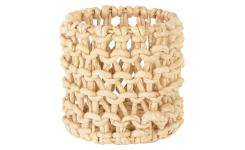 Cache-pot en abaca - 16 x 15 cm - Naturel