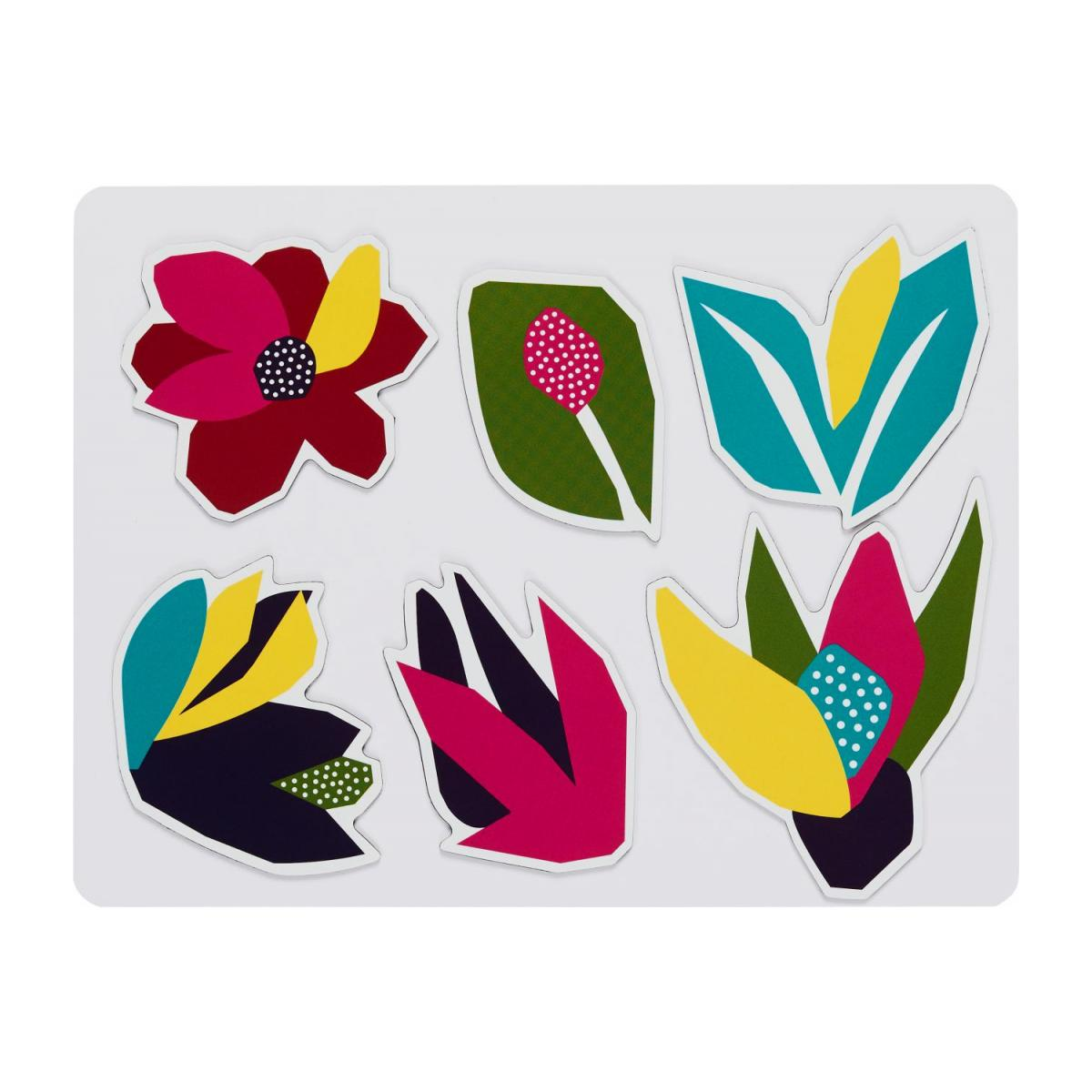 Lot de 6 magnets - Motif Narcisse n°1
