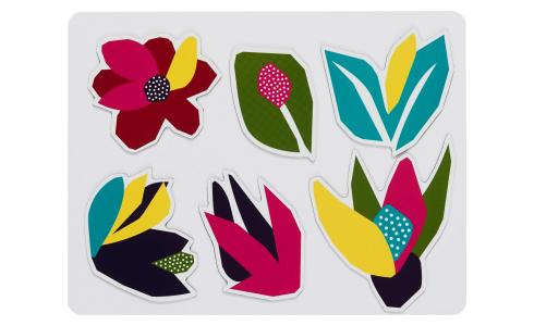 Lot de 6 magnets - Motif Narcisse