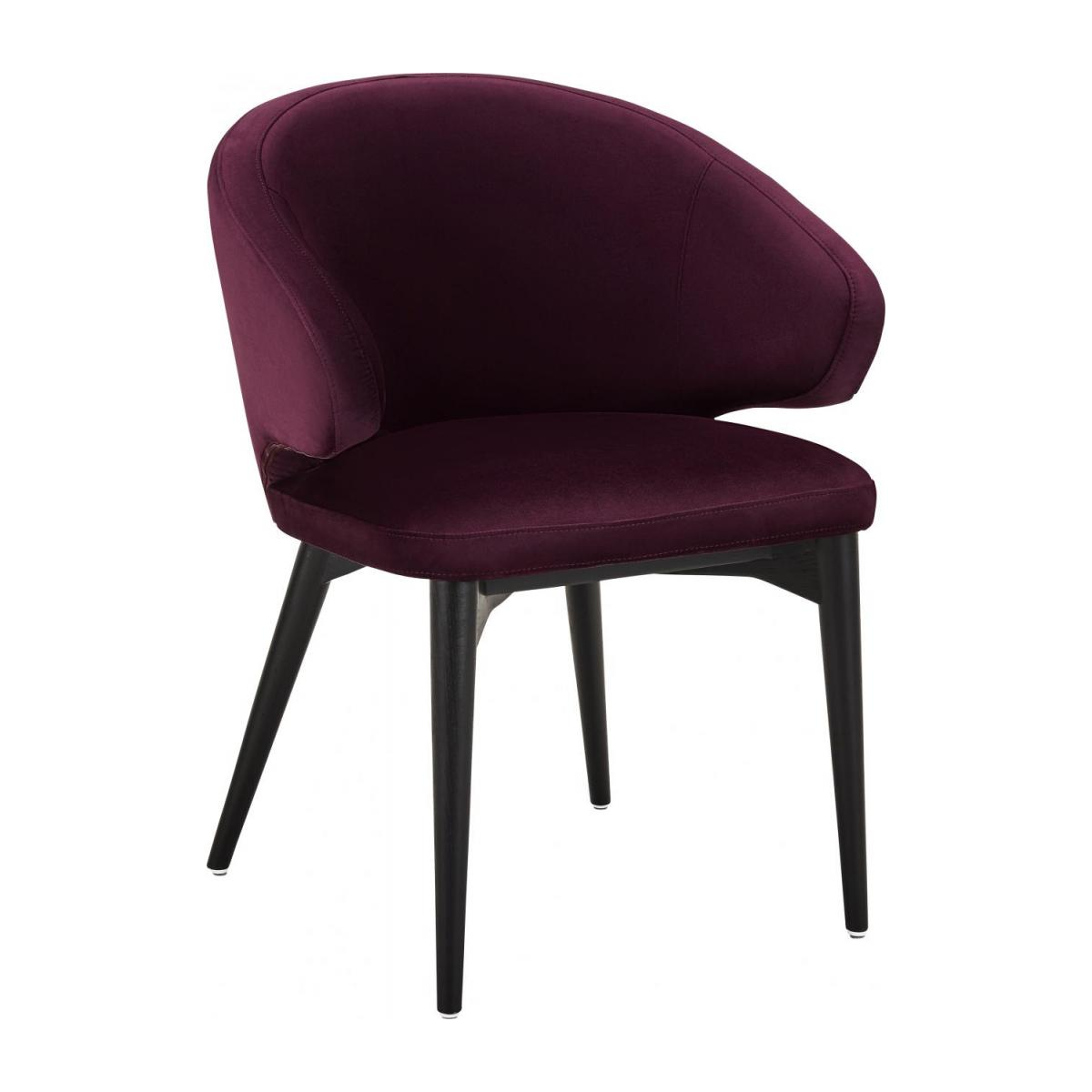 Chaise en velours - Bordeaux n°1