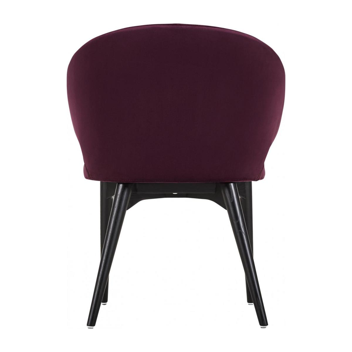 Chaise en velours - Bordeaux n°3