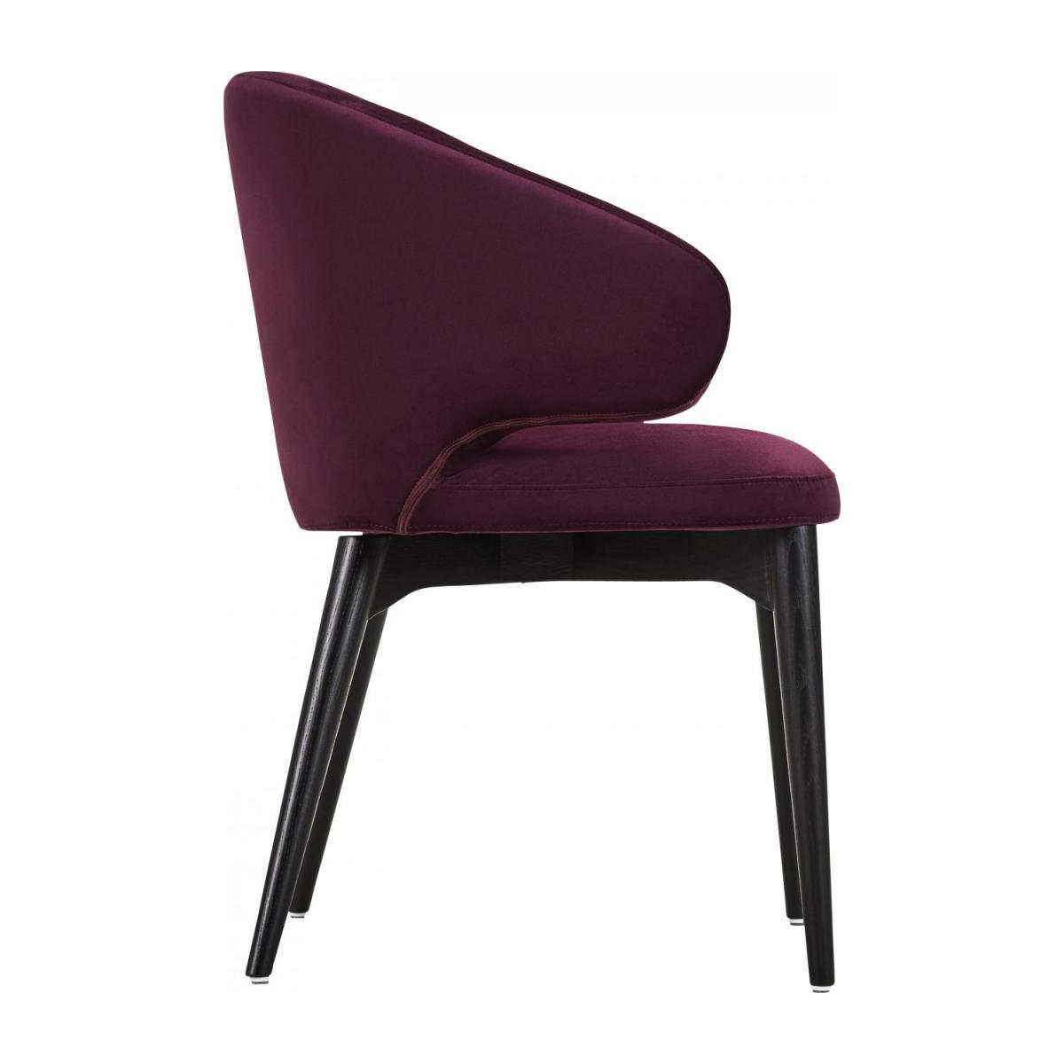 Chaise en velours - Bordeaux n°4