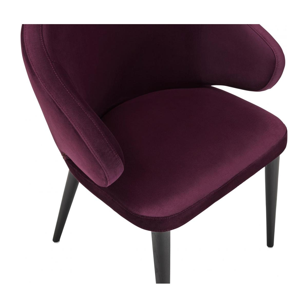 Chaise en velours - Bordeaux n°5