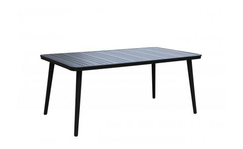 Table de jardin en aluminium - Anthracite poudré
