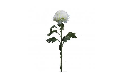 Rosa artificial - 87 cm - Blanco