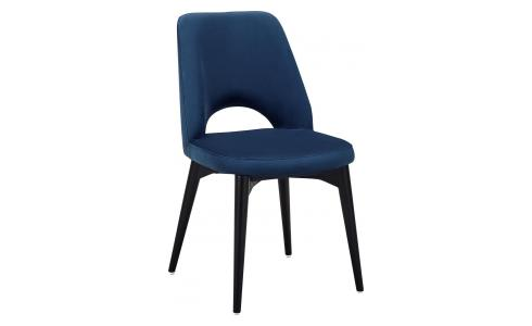 Chaise en velours - Bleu