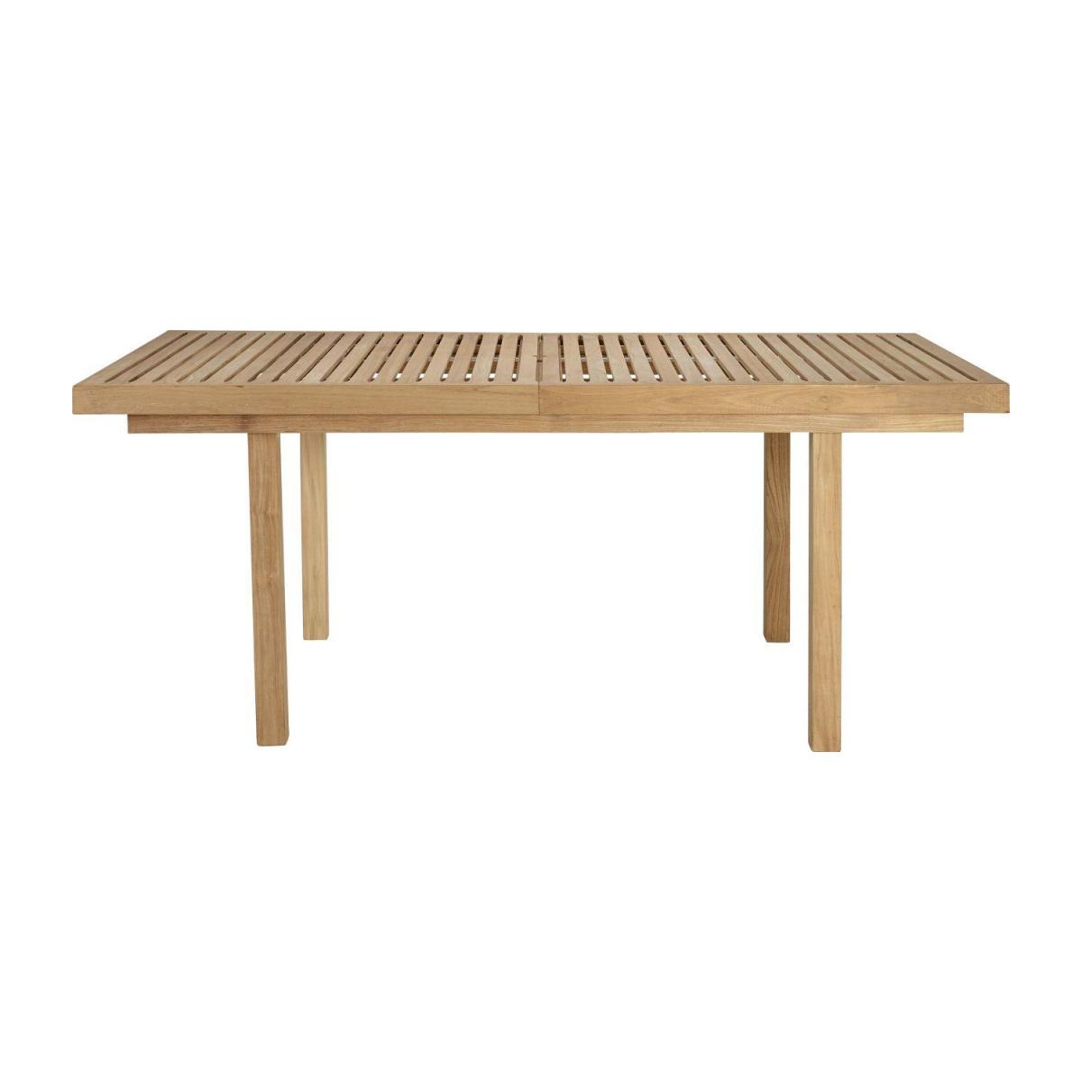 Table de jardin à rallonges en teck - Naturel - 252 x 100 cm