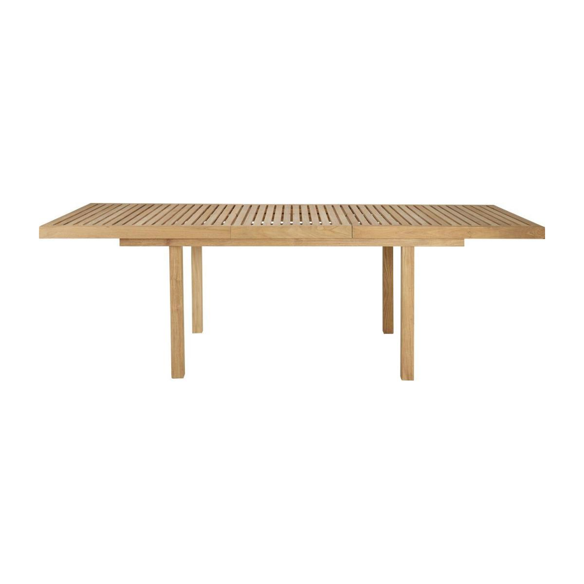 Teak extendible garden table n°4