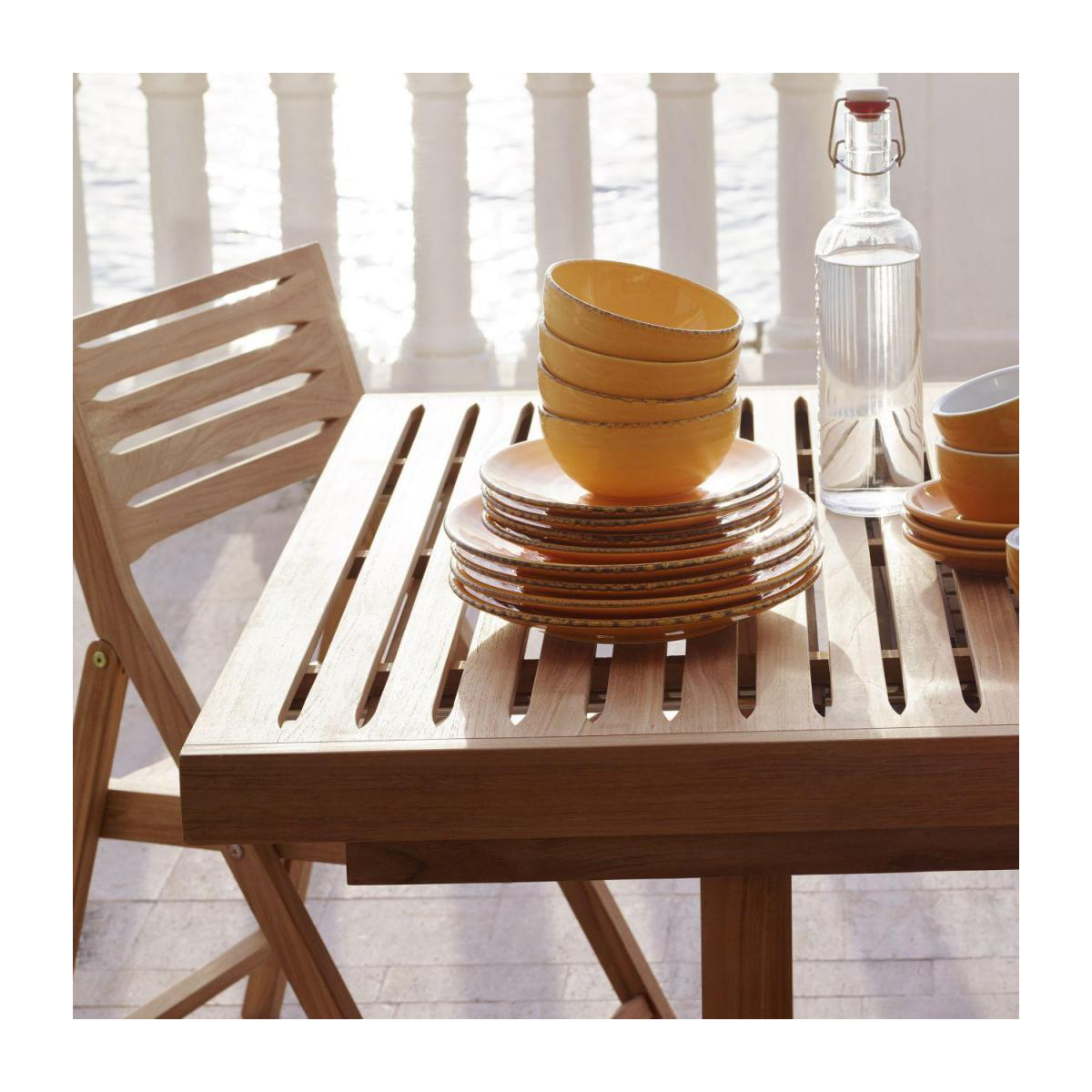 Teak extendible garden table n°10