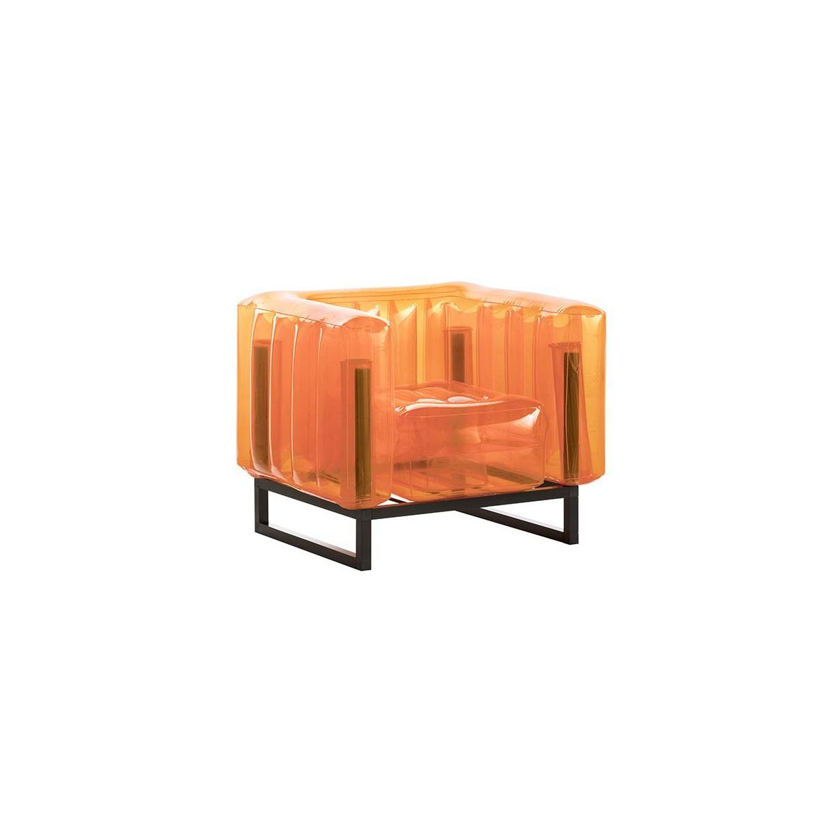Fauteuil gonflable en PVC - Orange n°1