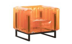 Fauteuil gonflable en PVC - Orange