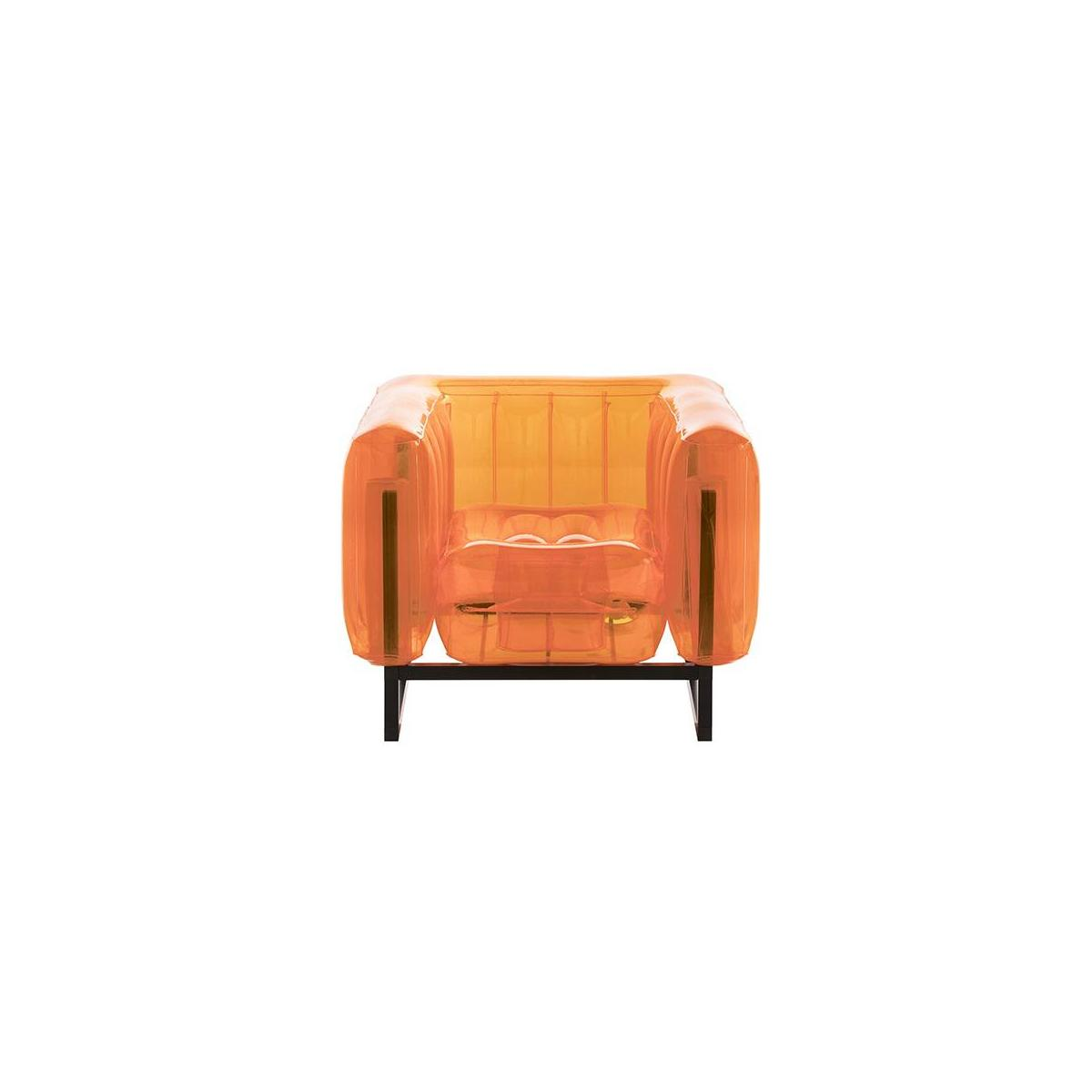 Fauteuil gonflable en PVC - Orange n°3
