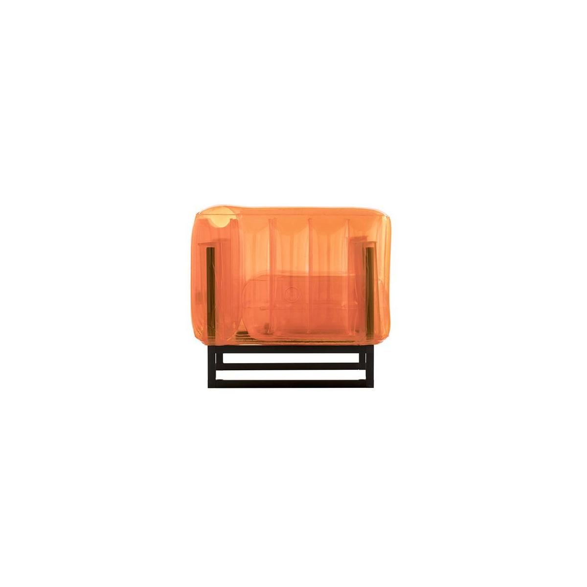 Fauteuil gonflable en PVC - Orange n°4