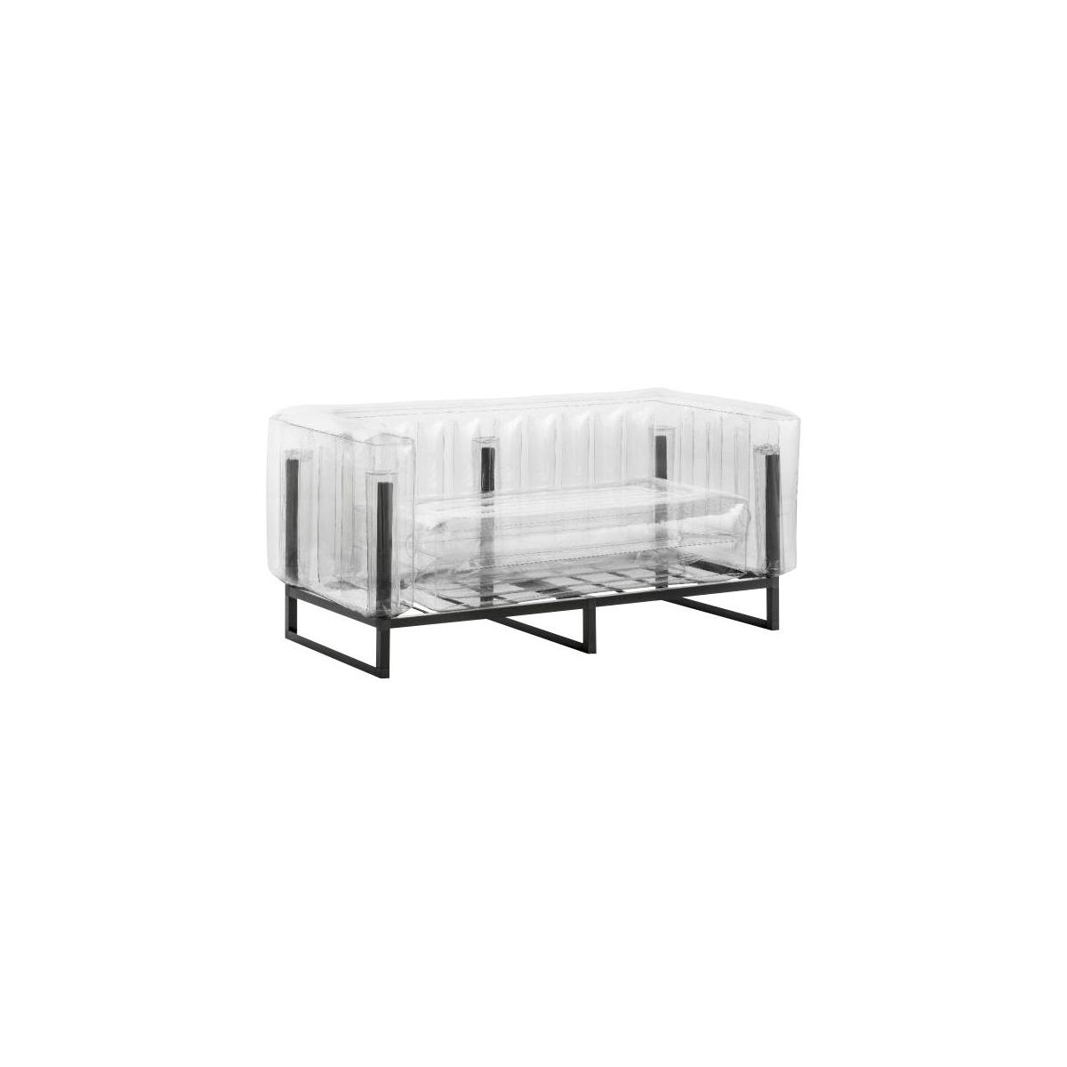 Canapé gonflable 2 places en PVC - Transparent n°1