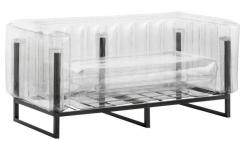 Canapé gonflable 2 places en PVC - Transparent