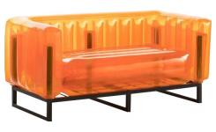 Canapé gonflable 2 places en PVC - Orange
