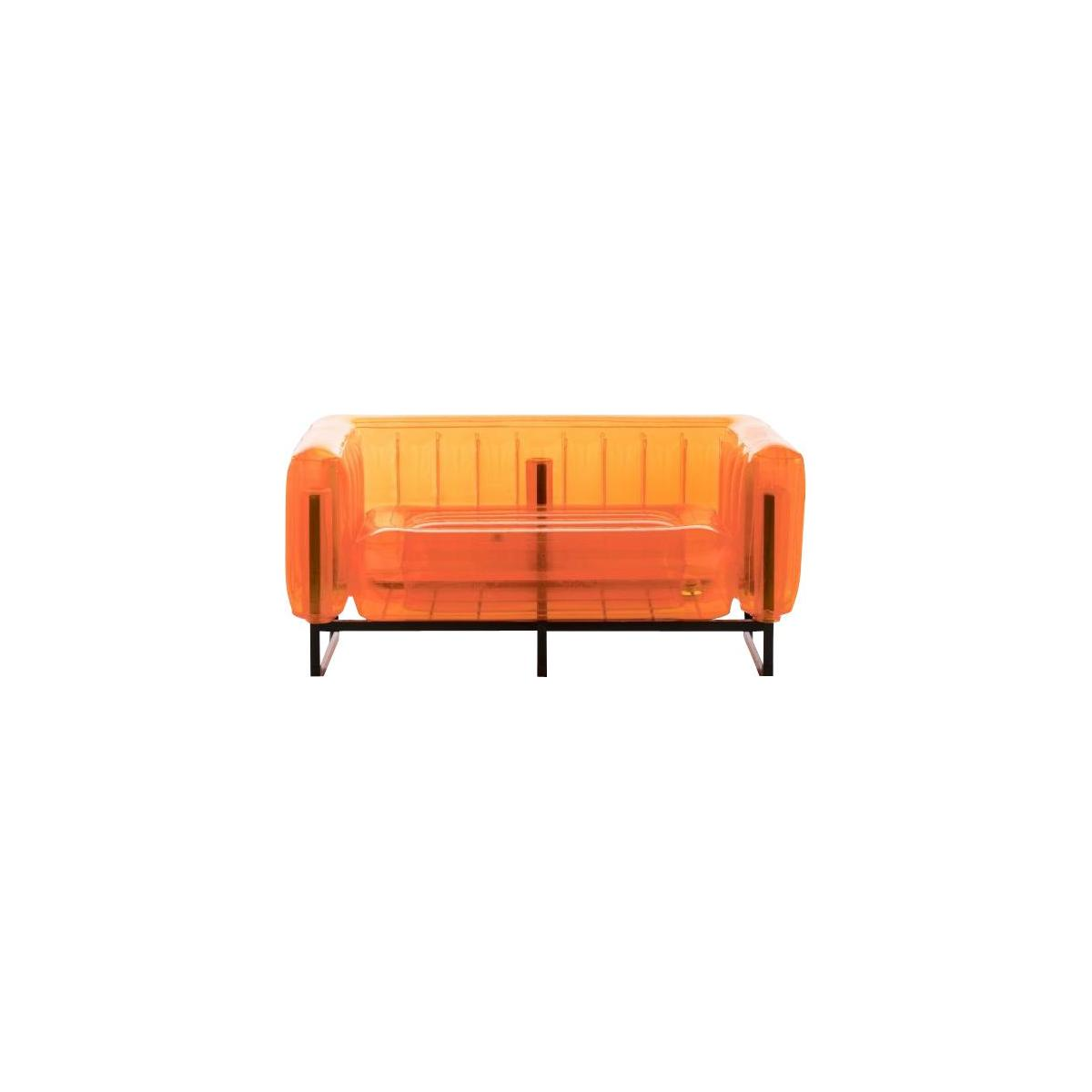 Canapé gonflable 2 places en PVC - Orange n°2