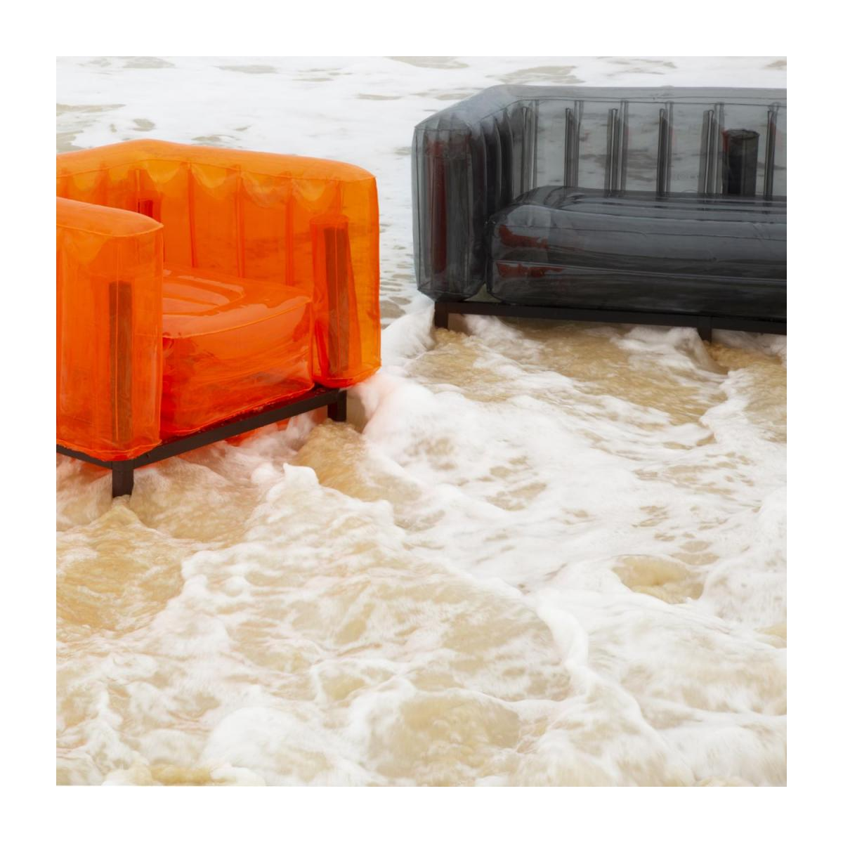 Canapé gonflable 2 places en PVC - Orange n°4