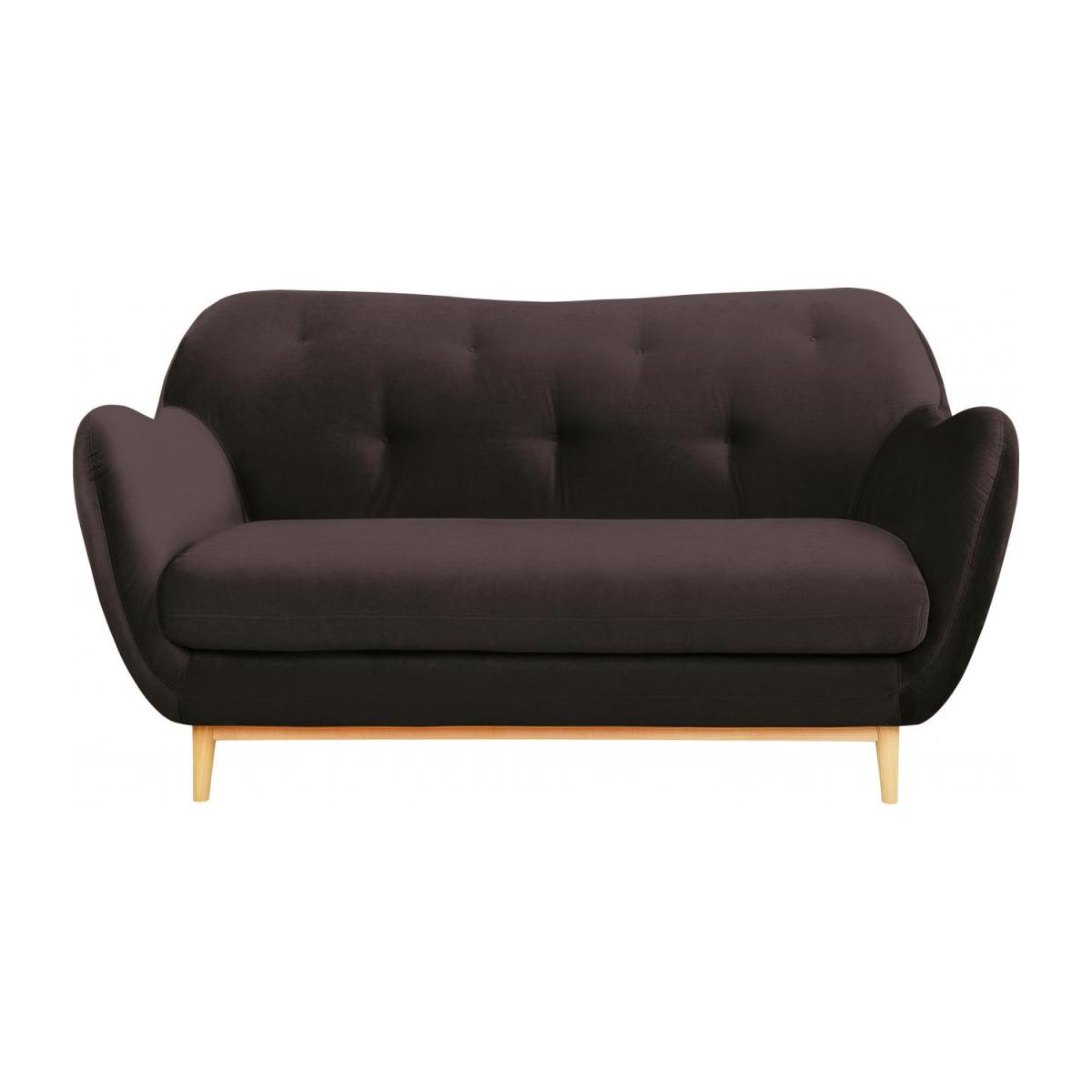 2-seat sofa made of velvet, grey n°2