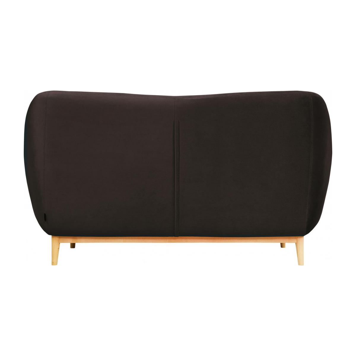 2-seat sofa made of velvet, grey n°3