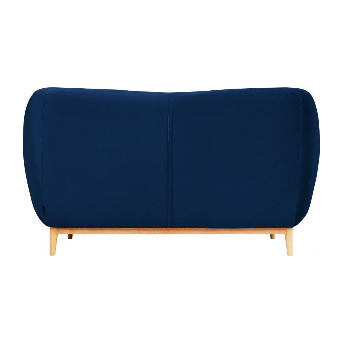 2-seat sofa made of velvet, blue n°3
