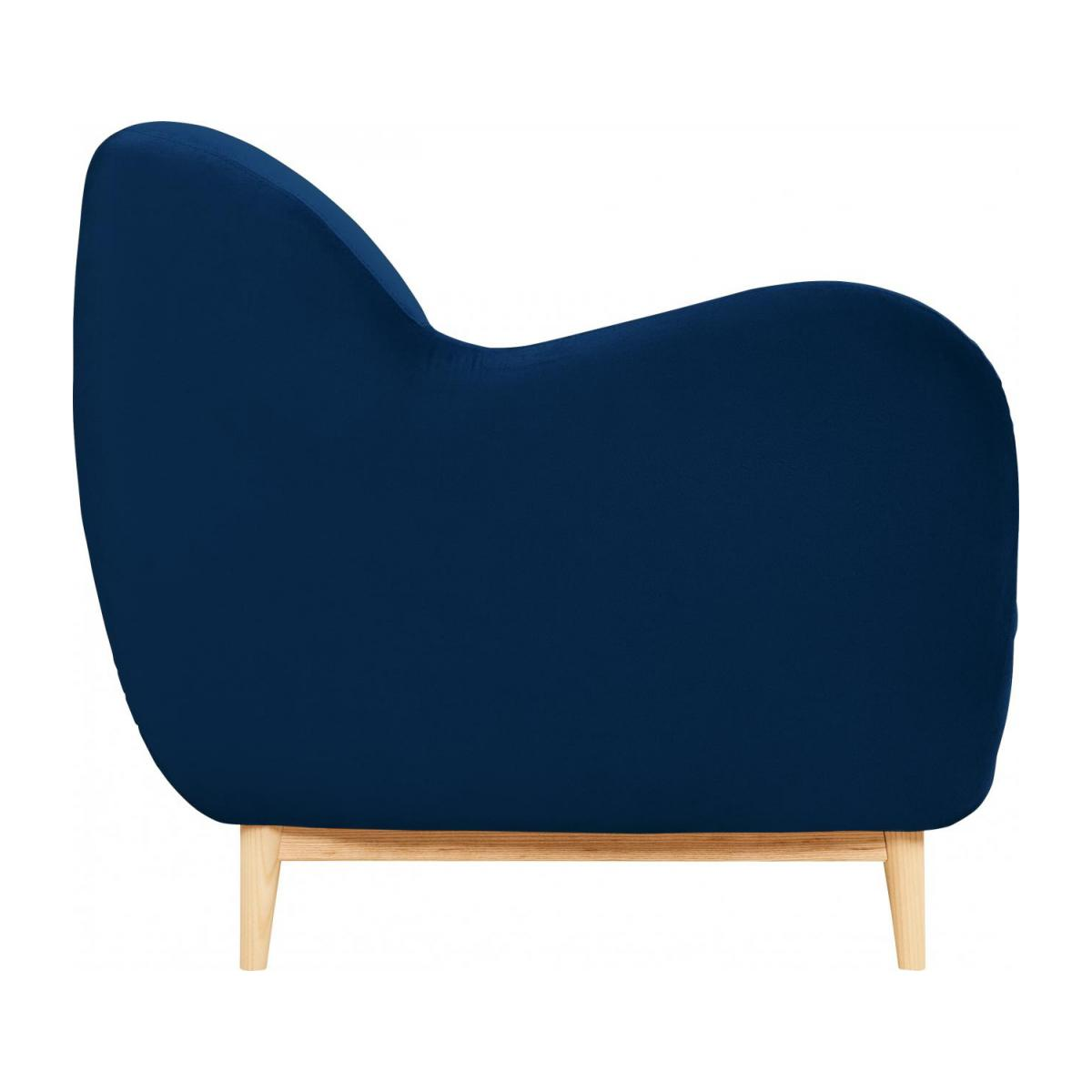 2-seat sofa made of velvet, blue n°4
