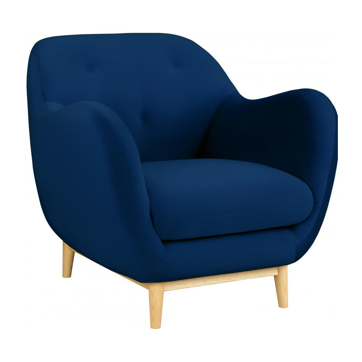 Armchair made of velvet, blue n°1