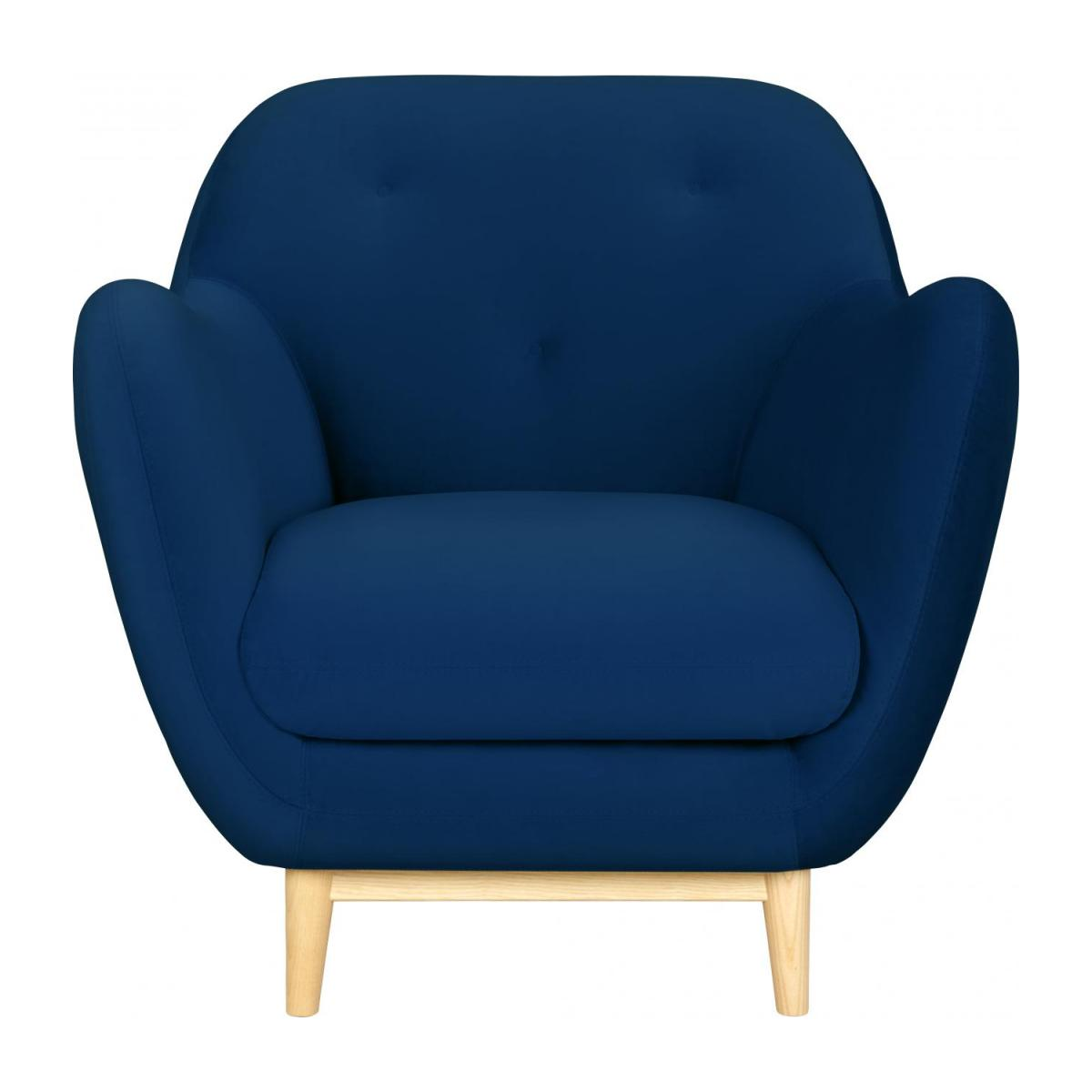 Armchair made of velvet, blue n°2