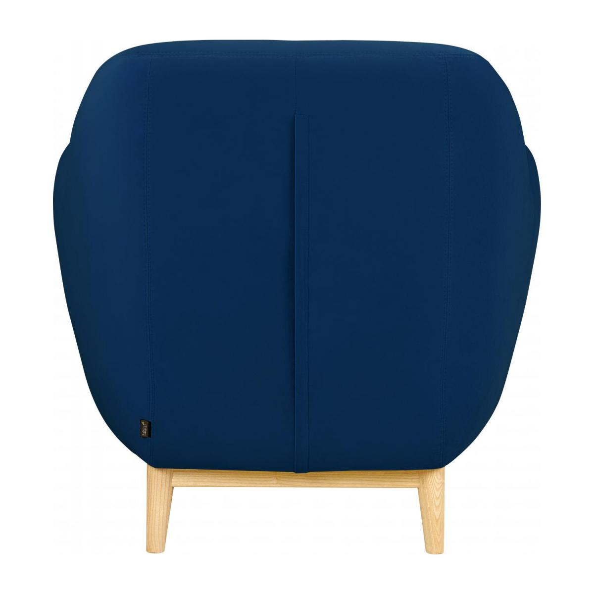 Armchair made of velvet, blue n°3