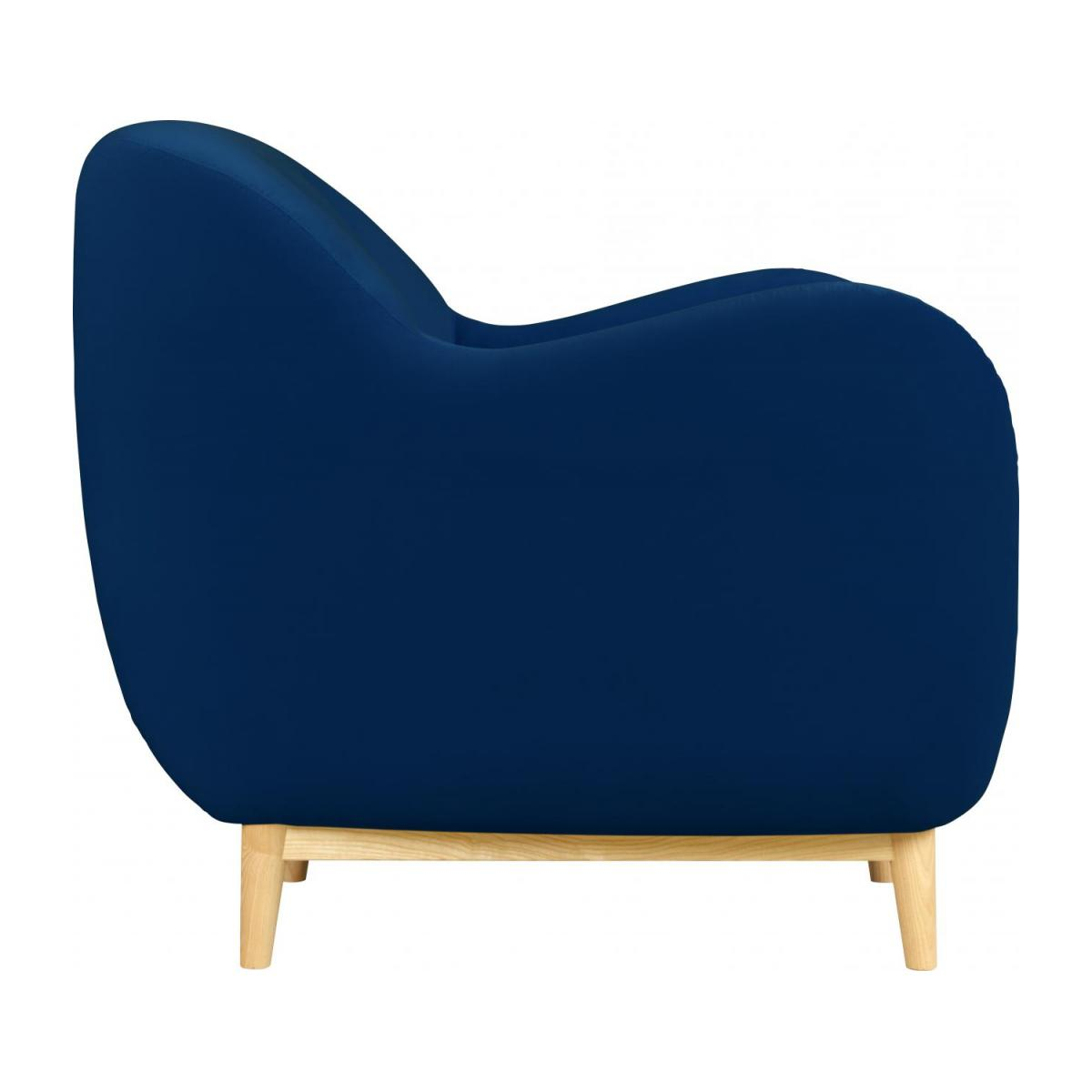 Armchair made of velvet, blue n°4