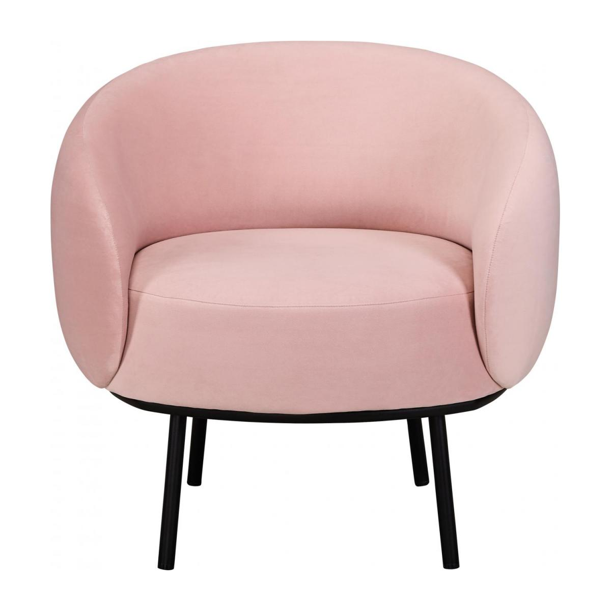 Fauteuil en velours - Rose - Design by Adrien Carvès n°3