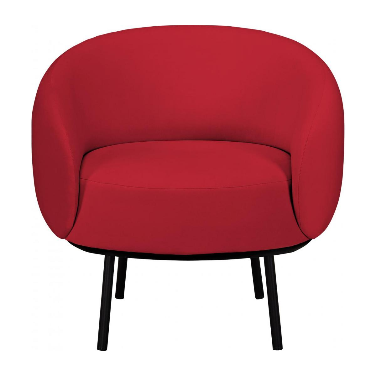 Fauteuil en velours - Rouge - Design by Adrien Carvès n°2