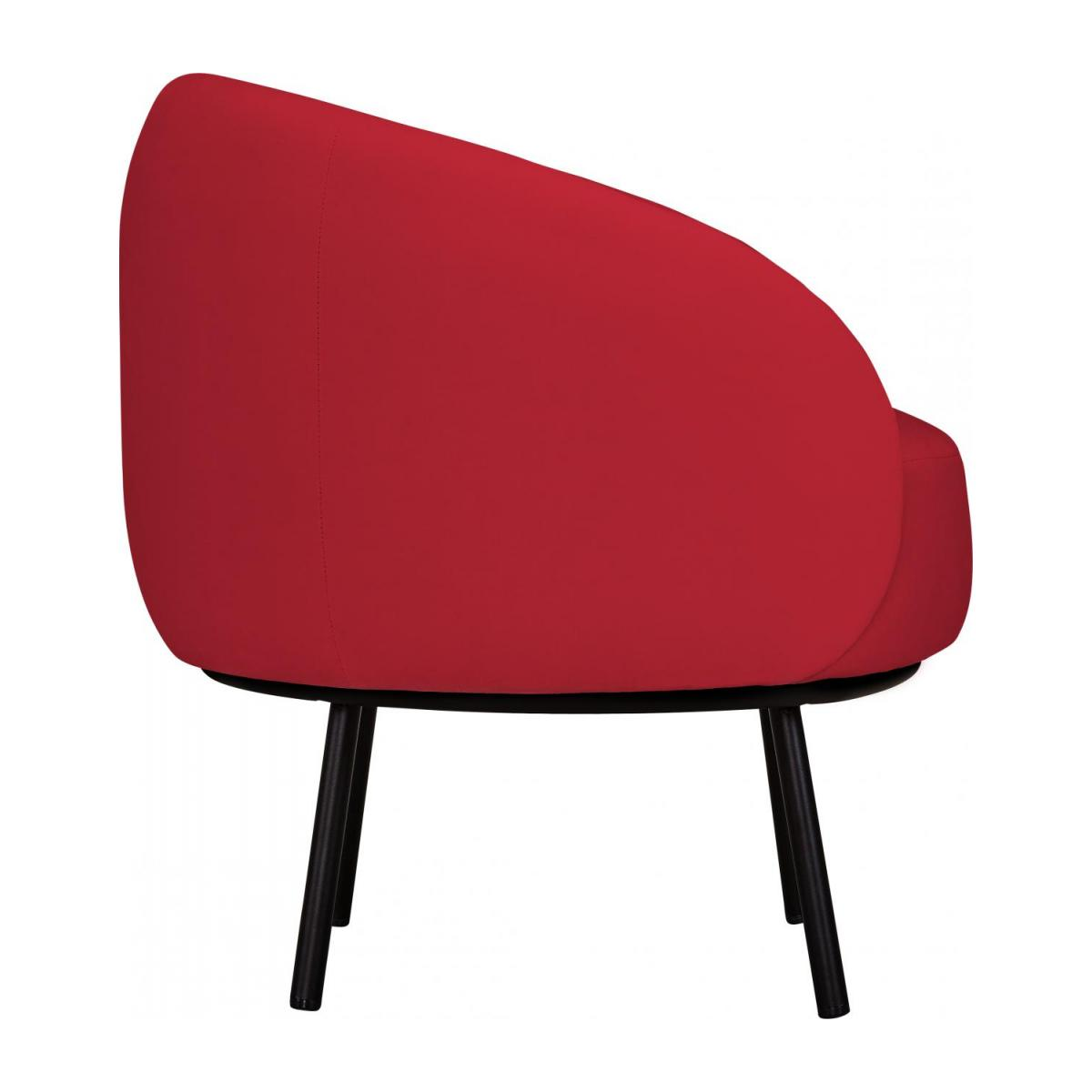 Fauteuil en velours - Rouge - Design by Adrien Carvès n°4