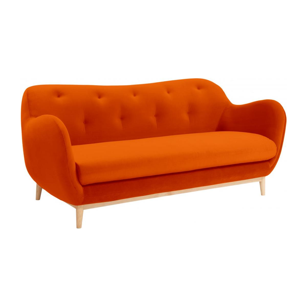 3-Sitzer-Sofa aus Samt - Orange - Design by Adrien Carvès n°1