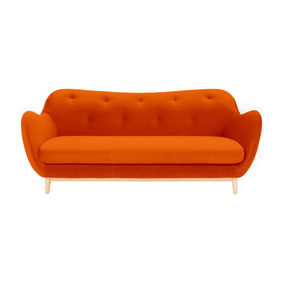 3-Sitzer-Sofa aus Samt - Orange - Design by Adrien Carvès n°3
