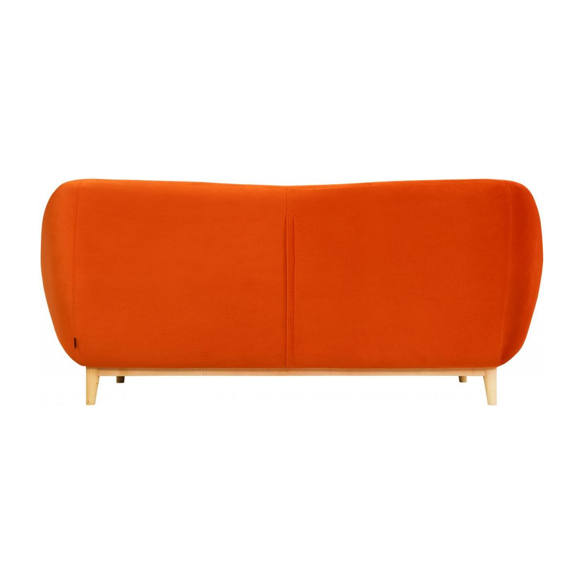 Canapé 3 places en velours - Orange - Design by Adrien Carvès n°4