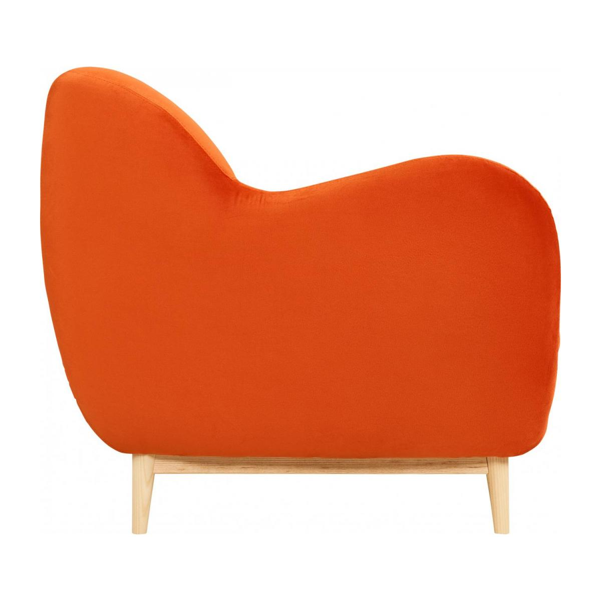 Canapé 3 places en velours - Orange - Design by Adrien Carvès n°5