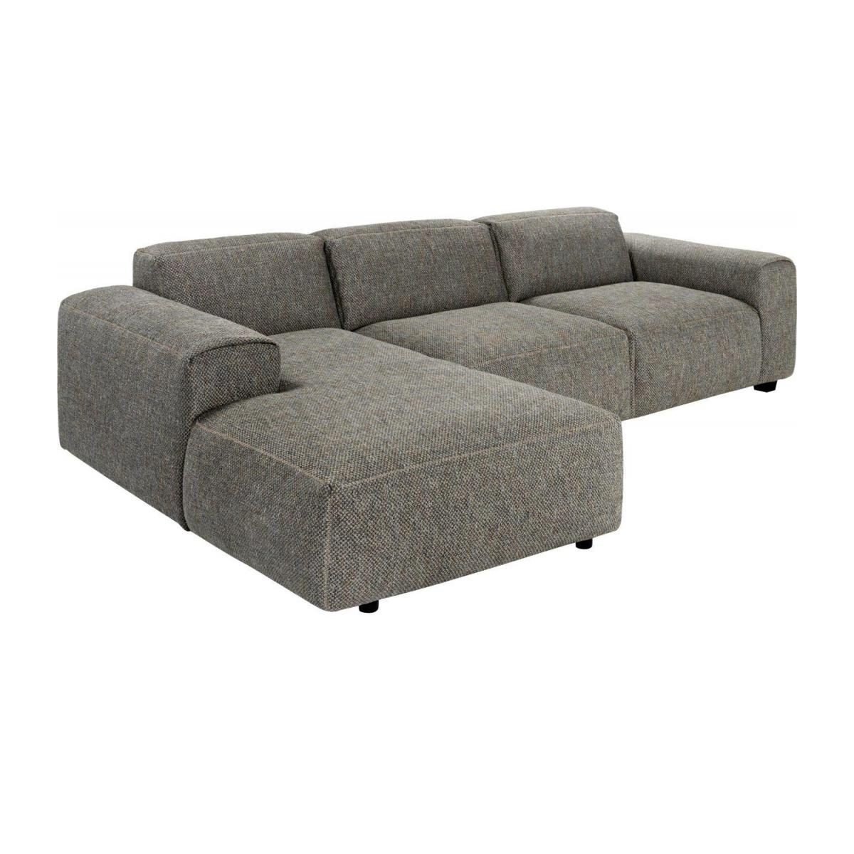 3-Sitzer Sofa mit Chaiselongue links aus Stoff Bellagio night black n°5